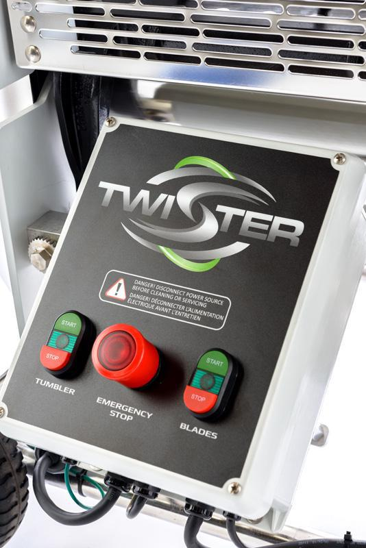 Twister Tandem T2 Trimming System With Leaf Collector - Wet or Dry Trim Machine