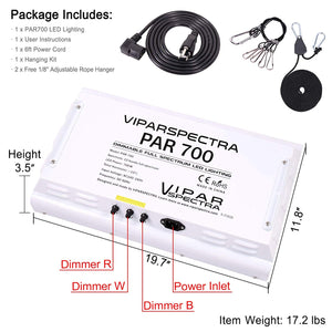 VIPARSPECTRA PAR700 LED Grow Light For Indoor Plants