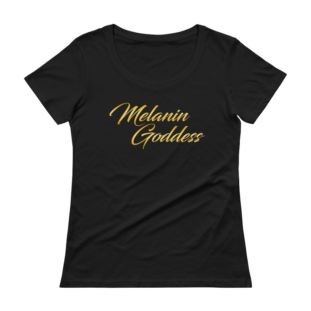 """Melanin Goddess"" Ladies' Scoopneck T-Shirt"