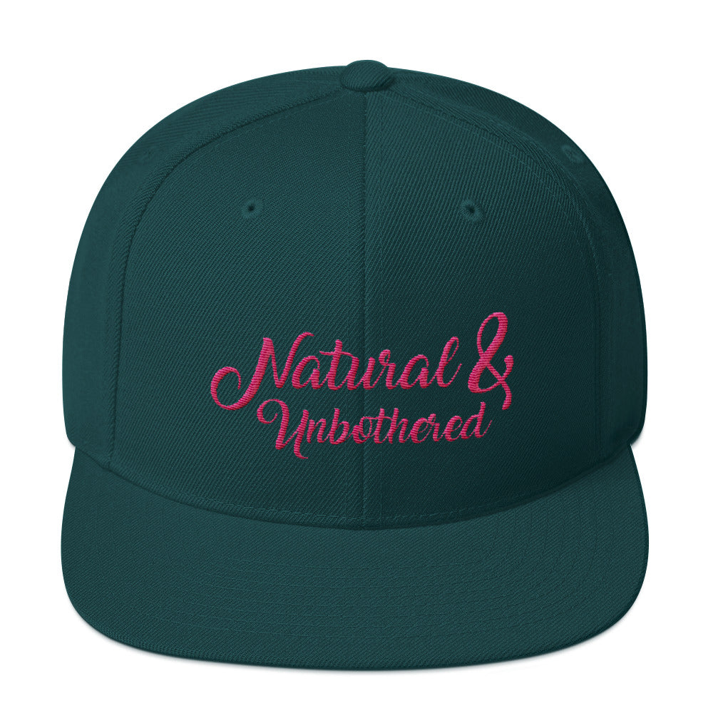 """Natural & Unbothered"" Snapback Hat"