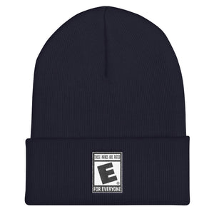 """These Hands Are Rated E For Everyone"" Cuffed Beanie"
