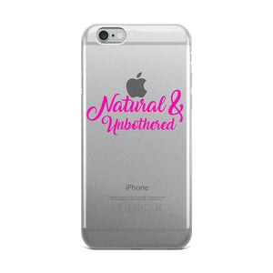 """Natural & Unbothered"" iPhone Case"