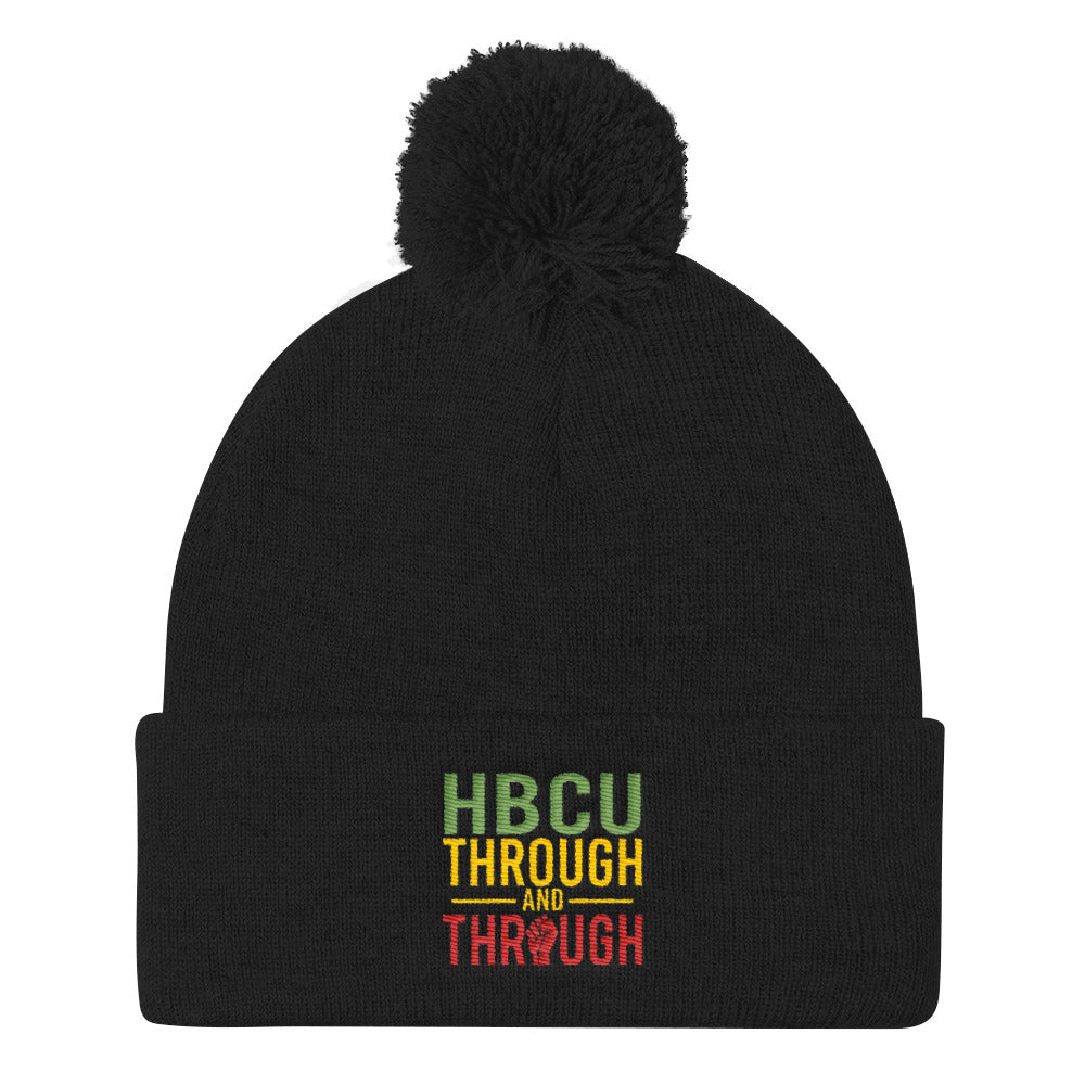"""HBCU Through And Through"" Pom Pom Knit Cap"