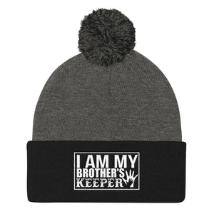 """I Am My Brother's Keeper"" Pom Pom Knit Cap"