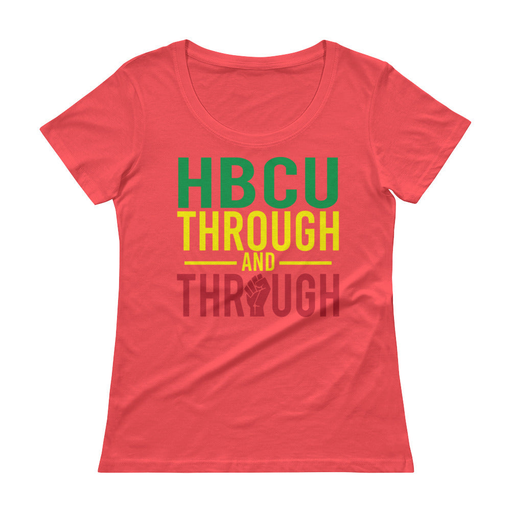 """HBCU Through And Through"" Ladies' Scoopneck T-Shirt"
