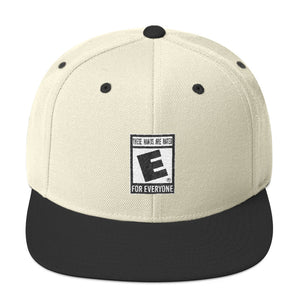 """These Hands Are Rated E For Everyone"" Snapback Hat"