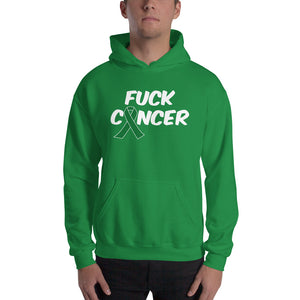 """Fuck Cancer-Liver Cancer"" White Font Hooded Sweatshirt"