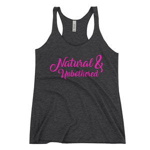 """Natural & Unbothered"" Women's Racerback Tank"