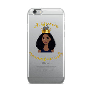 """A Queen Crowned In Curls"" iPhone Case"