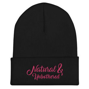 """Natural & Unbothered"" Cuffed Beanie"