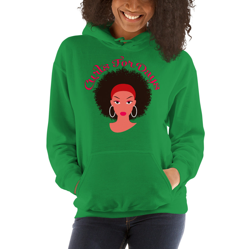 """Curls For Days"" Hooded Sweatshirt"