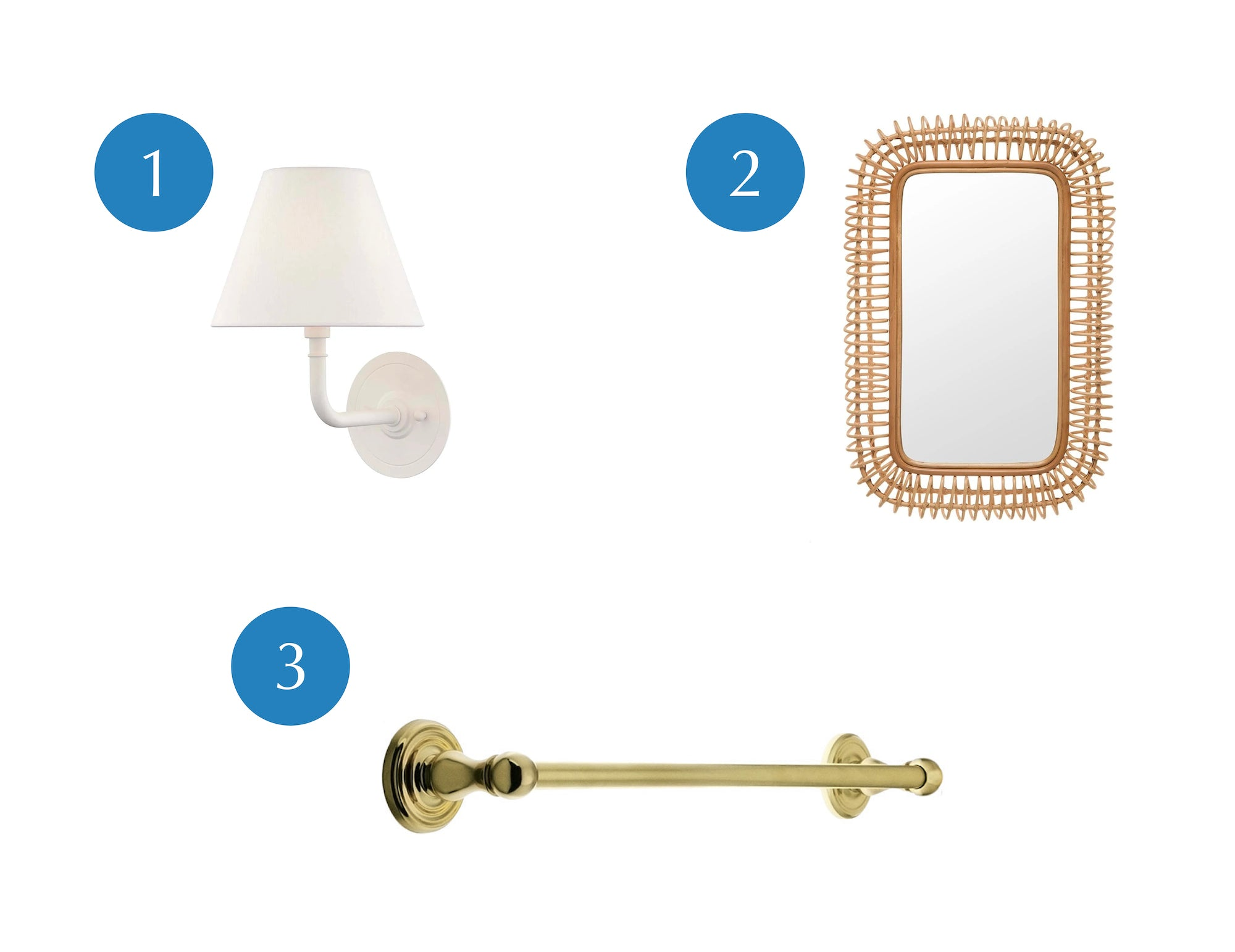 Jeremy recommends switching out light fixtures, adding a statement mirror, and switching out hardware when looking to update a rental bathroom!