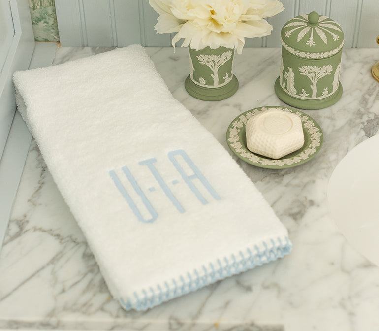 Stitched Edge Hand Towels (pair)