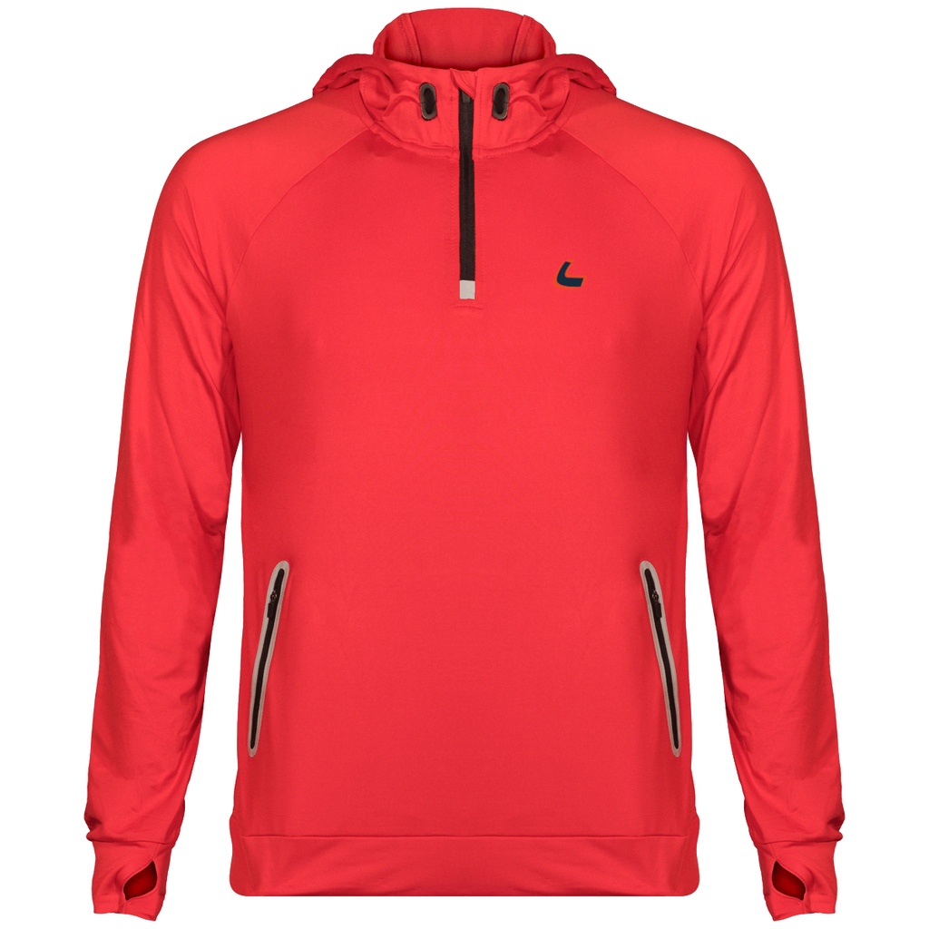 Sweat Shirt à Capuche Sport Zip 1/4 Unisexe