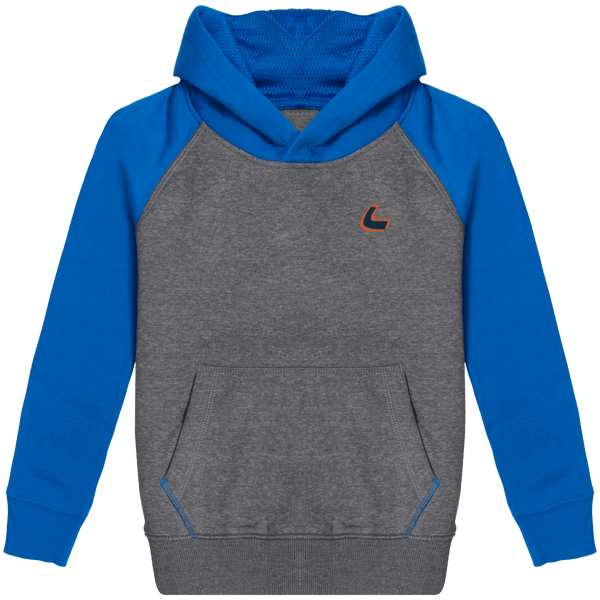 Sweat-shirt Sport à capuche bicolore enfant