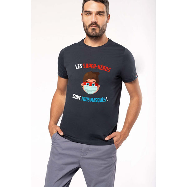 Tshirt Homme Covid Made in France Bio