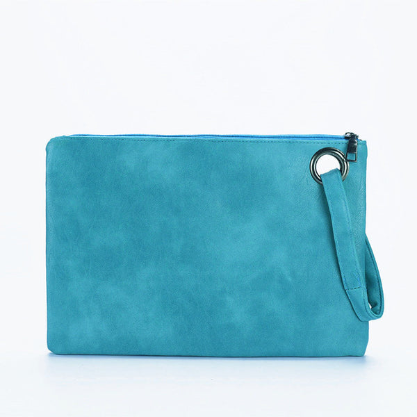 Fashion Solid Women'S Clutch Bag Leather Women Envelope