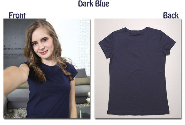 High Quality 18 Color S-3Xl Plain T Shirt Women Cotton