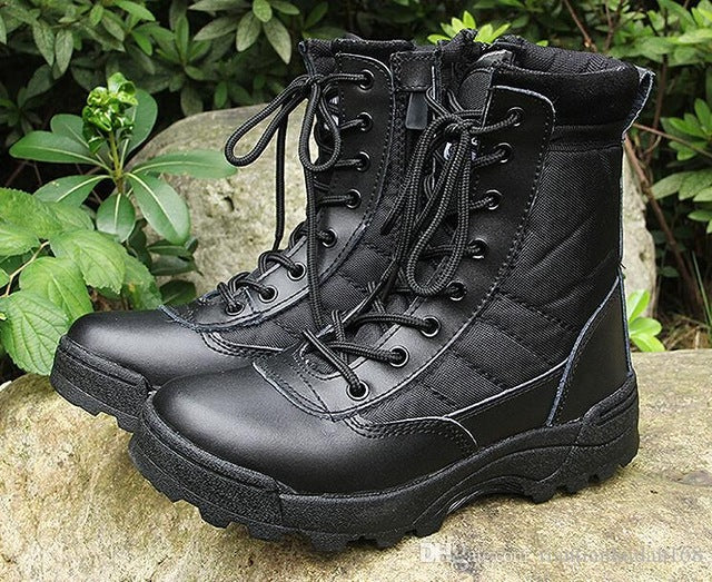 New Us Military Leather Boots For Men Combat Bot