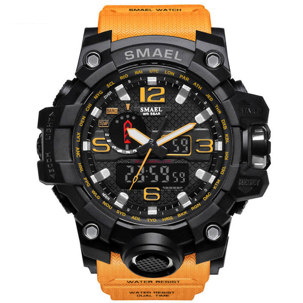 Men Military Watch 50M Waterproof Wristwatch Led Quartz