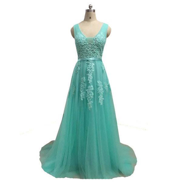 Fadistee Elegant Long Bridesmaid Dresses Appliques Lace
