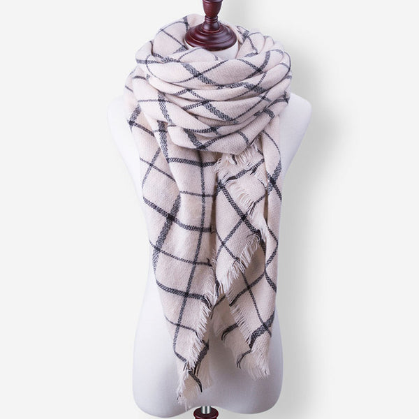 Evrfelan New Winter Scarf Fashion Women Scarf Luxury Plaid