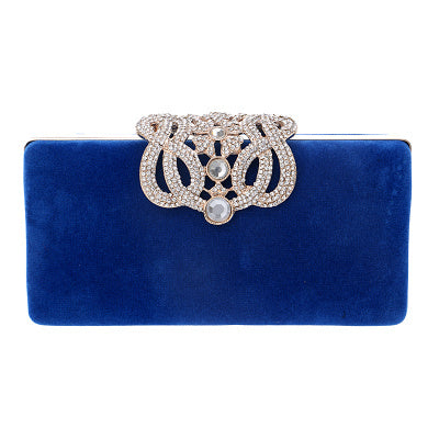 Sekusa Clutch Evening Bags Crown Rhinestones Evening Bags