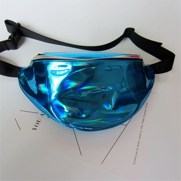 Hldafa New Holographic Fanny Pack Laser Waist Packs