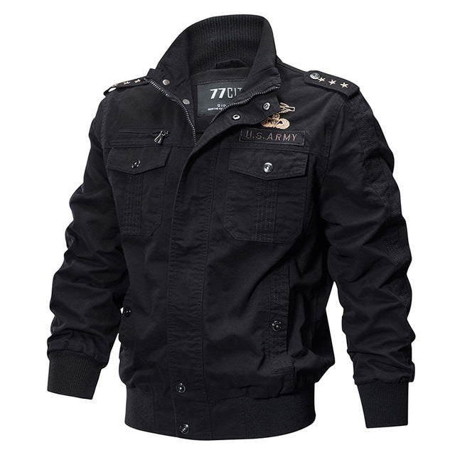 Refire Gear Military Pilot Jackets Men Winter Autumn