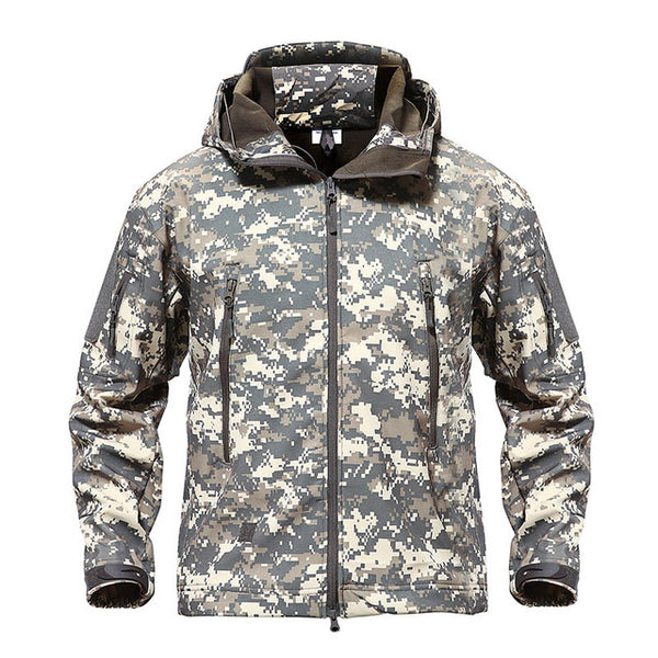 Tacvasen Army Camouflage Men Jacket Coat Military Tactical