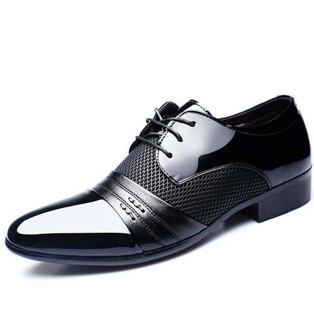 Men'S Dress Shoes Fashion Leather Men Business Flat Shoes