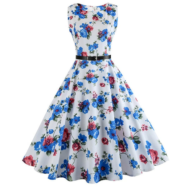 Women Summer Dress Hepburn