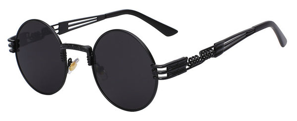 Gothic Steampunk Sunglasses Men Women Metal Wrapeyeglasses