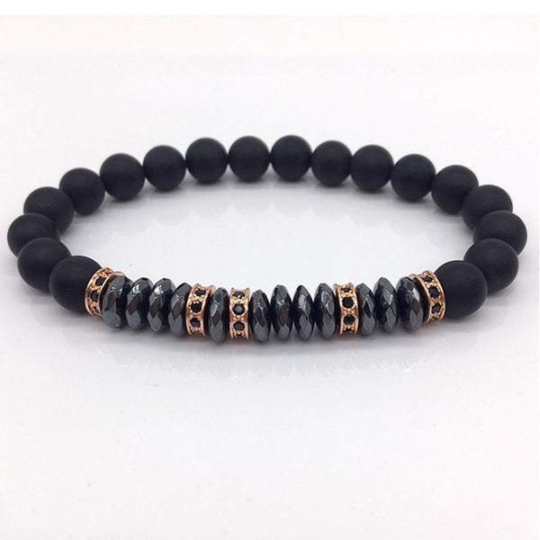 Naiqube Brand New Fashion Pave Cz Men Bracelet 8Mm
