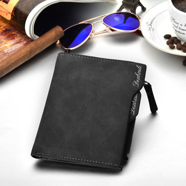 Wallet Men Soft Leather Wallet With Removable Card Slots