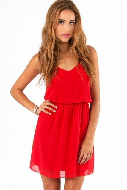 GOPLUS Summer Style Chiffon Party Dress Women Casual