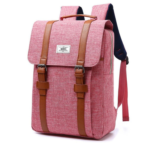 Vintage Men Women Canvas Backpacks School Bags For