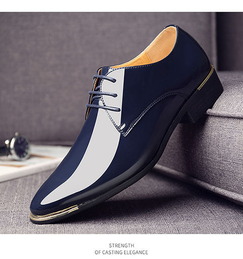 Newly Men'S Quality Patent Leather Shoes Zapatos De