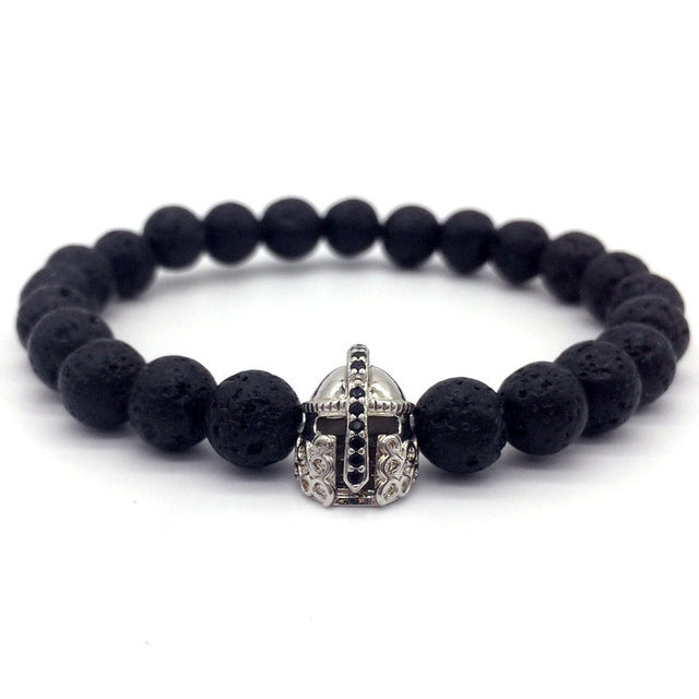 Hot Trendy Lava Stone Pave Cz Imperial Crown And Helmet