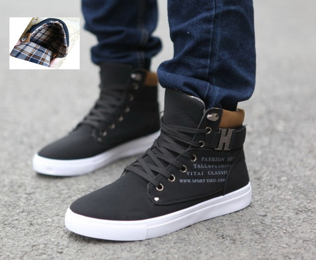 Hot Spring Autumn Lace-Up Men'S Canvas Shoes Big Size