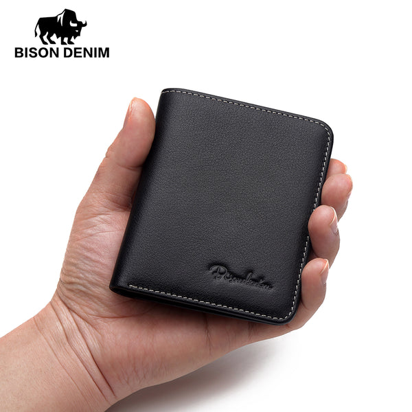 Bison Denim Black Purse For Men Genuine Leather Men'S