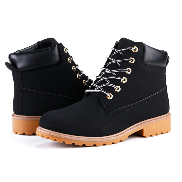 Roxdia Faux Suede Leather Men Boots Spring Autumn And Winter