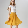 Anasunmoon Women Chiffon Pleated Skirt Vintage High Waist