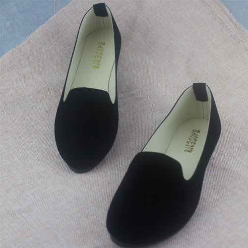 Plus Size Shoes Women Flats Candy Color Woman Loafers Spring