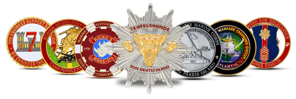 Custom Made Challenge Coins | Marine Corps Challenge Coins