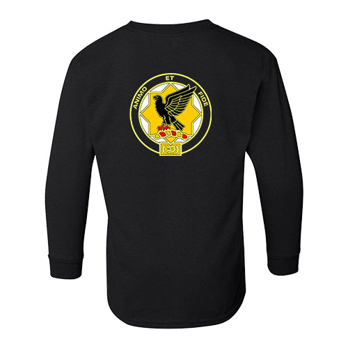 1st Cavalry Division Long Sleeve Black T-Shirt