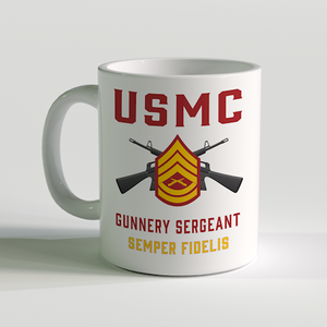 GySgt Coffee Mug, USMC GySgt Coffee Mug, Gunnery Sergeant Coffee Mug, USMC Rank Coffee Mug