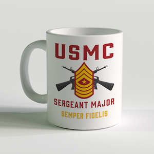 SgtMaj Coffee Mug, USMC SgtMaj Coffee Mug, USMC Rank Mug, Sergeant Major Coffee Mug