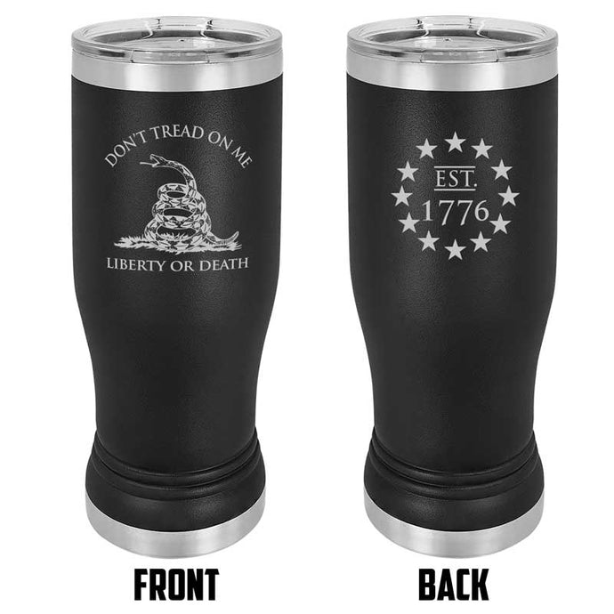 Gadsden Flag 20 oz USMC Black Double Wall Vacuum Insulated Stainless Steel gadsden flag Tumbler Travel Mug