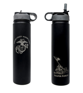 Insulated Metal Marines Water Bottle